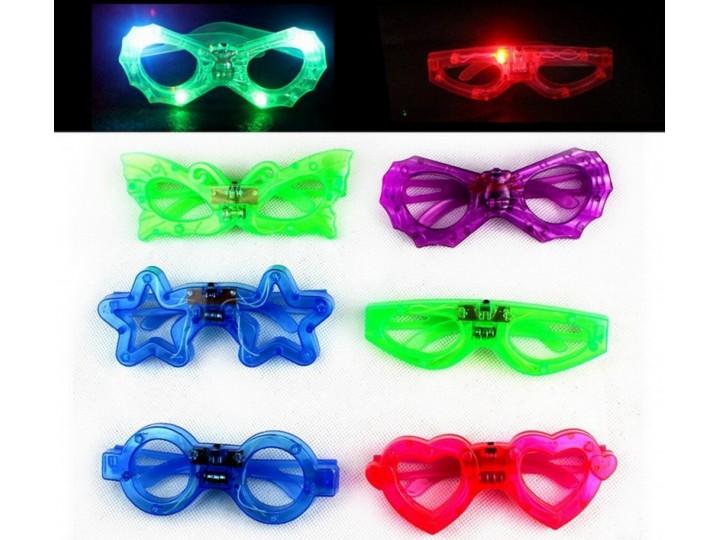 闪光蝴蝶眼镜,舞会眼鏡,生日派对道具, LED眼鏡,派對眼鏡