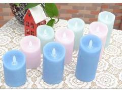 直徑7.5cm冰霧水紋蠟燭, LED電子搖擺蠟燭,冰霧LED蠟燭,家居裝飾蠟燭,會所裝鉓蠟燭