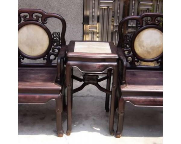 二手回收各種老紅木八仙桌、麻將桌、琴桌、太師椅、靠背椅
